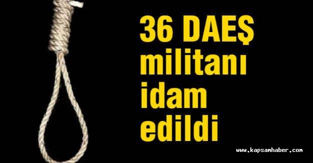36 DAEŞ militanı idam edildi