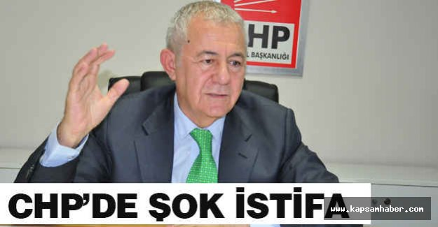 CHP'de şok istifa...