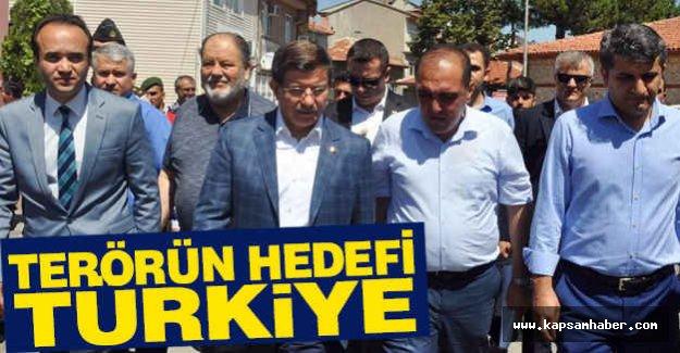 Davutoğlu; Hedef Türk Milletidir