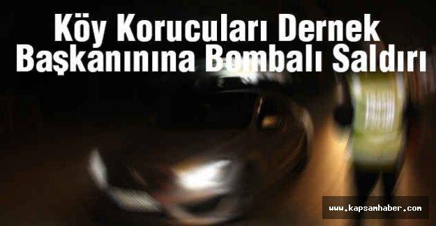 Köy Korucuları Dernek Başkanına bombalı saldırı