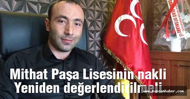 MHP'li Tekin'den 'Mithat Paşa' Tepkisi