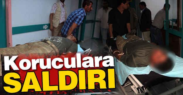 PKK'lı Teröristler  Koruculara Saldırdı