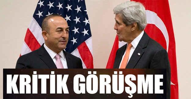 Cavuşoğlu ve Kerry'den kritik Görüşme