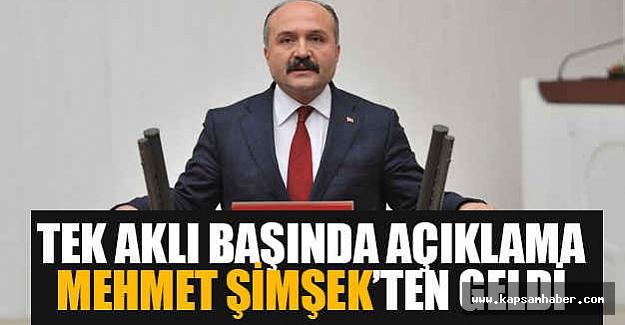 Erhan Usta; Tek Aklı Başında Açıklama Mehmet Şimşek'ten Geldi