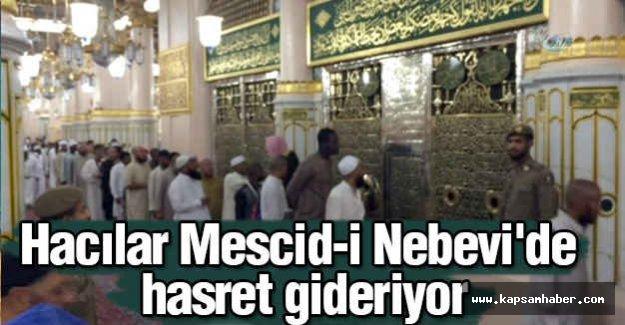 Hacılar Mescid-i Nebevi'de