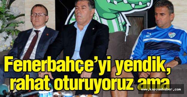 Hamzaoğlu: Fenerbahçe'yi yendik, rahat oturuyoruz...