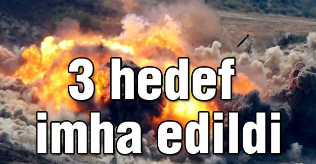Kuzey Irak'ta 3 hedef imha edildi