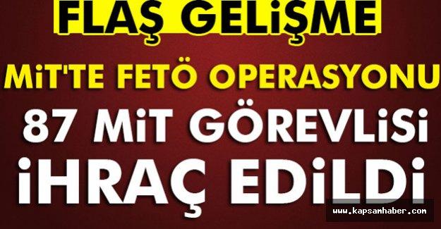 MİT'te Operasyon