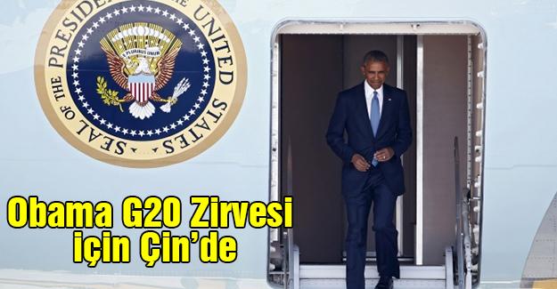 Obama G20 Zirvesi için Çin'de