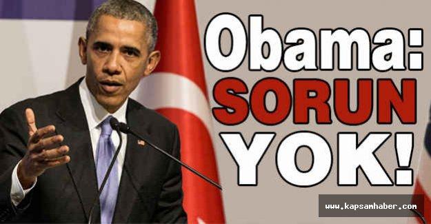 Obama'nın Türkiye Cevabı: Sorun Yok!