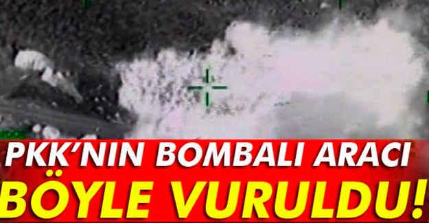 PKK'nın Bombalı Aracı Böyle Vuruldu
