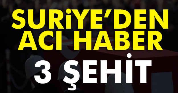 Suriye'de 3 Şehidimiz Var!