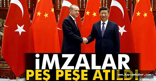 Türkiye ile Çin arasında 4 anlaşma