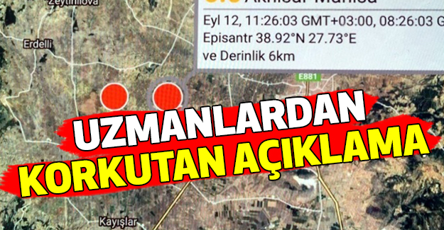 Uzmanlardan Manisa Depremi Açıklaması