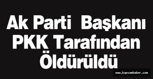Ak Parti  Başkanı PKK Tarafından Öldürüldü