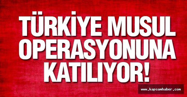 Flaş Haber: Türkiye  Musul Operasyonuna katılıyor