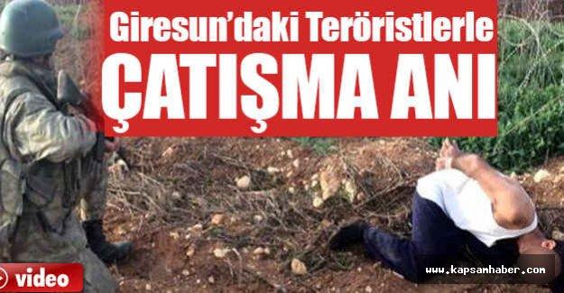 Giresun'da Teröristle Çatışma Anı