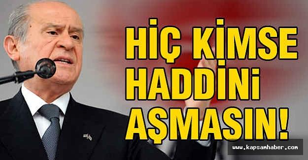 MHP Lideri Gurup Toplantısında Kritik Açıklamalarda Bulundu