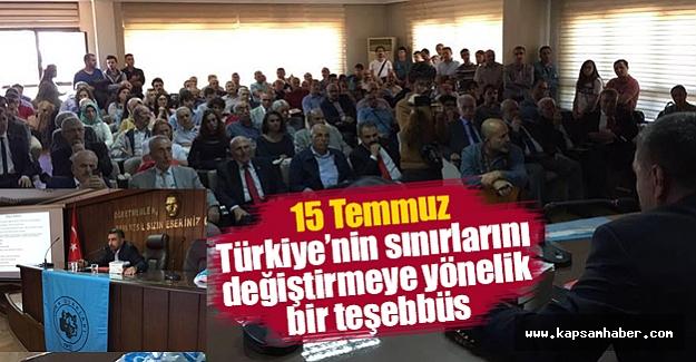 Samsun Türk Ocağı'ndan 15 Temmuz'un Perde Arkası Konferansı
