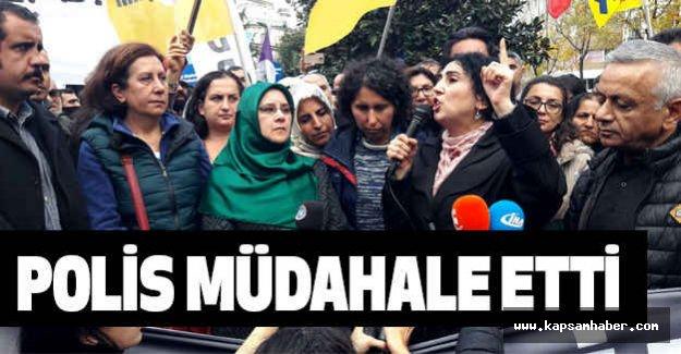 Şişli'de, HDP'li gruba polis müdahalesi