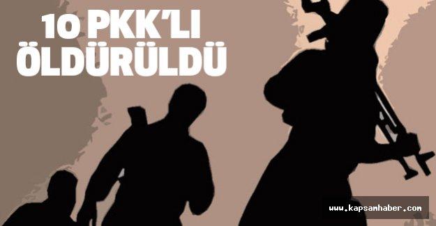 10 PKK'lı öldürüldü