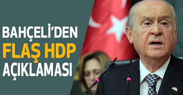Bahçeli'den HDP  Açıklaması