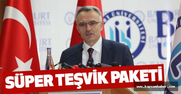 Bakanı Ağbal'dan Süper Teşvik Paketi
