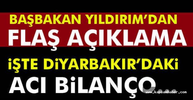 Başbakan'dan Flaş Diyarbakır Açıklaması