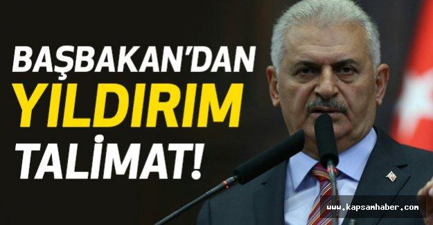 Başbakan'dan Yıldırım talimat!