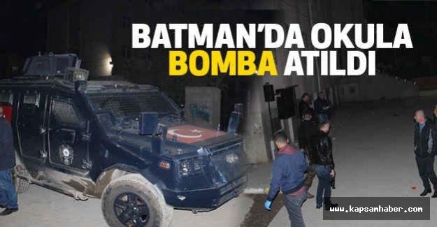 Batman'da Okula Bomba Atıldı