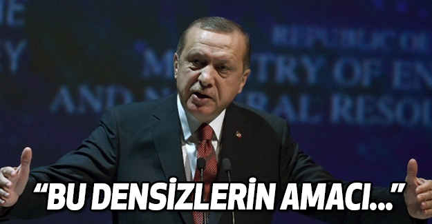 Erdoğan: Bu densizlerin Amacı...