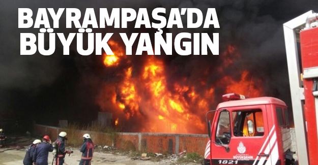 İstanbul Bayrampaşa'da büyük Yangın