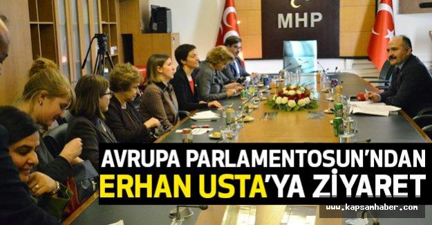 Avrupa Parlamentosu'ndan Erhan Usta'ya Anlamlı Ziyaret