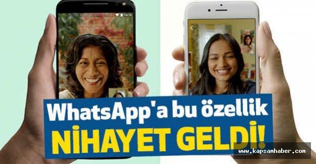 WhatsApp'a görüntülü arama döneme