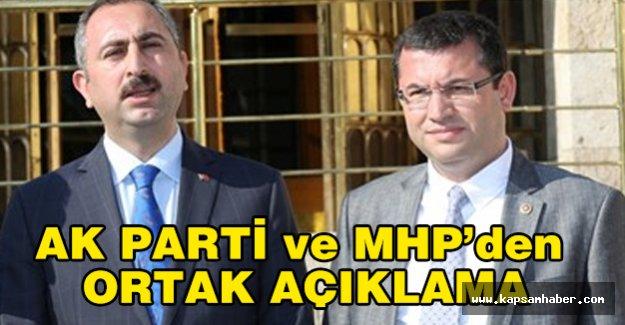 Ak Parti ve MHP Ortak açıklama...
