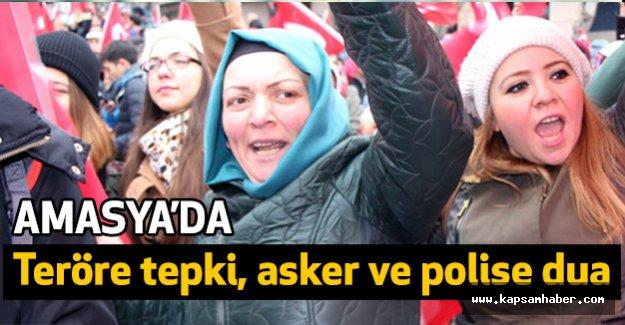Amasyalılar Teröru Protesto Etti