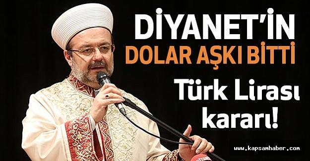 Diyanet'ten flaş Türk Lirası kararı!