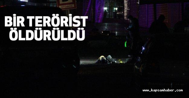 """""""Dur """" İhtarına Uymayan Terörist Öldürüldü"""