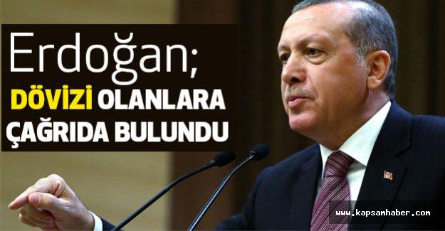 Erdoğan, Dövizi Olanlara Çağrıda Bulundu