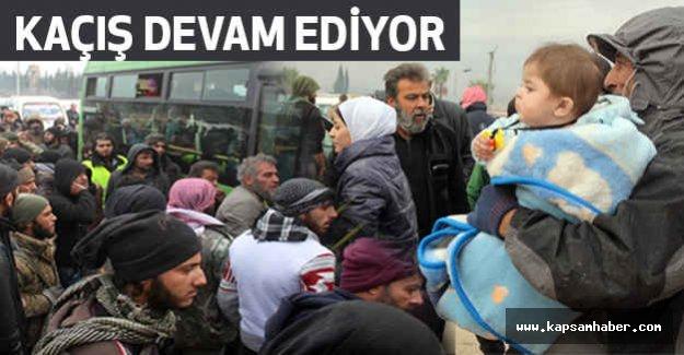 Halep'ten kaçanlara'da saldırılıyor