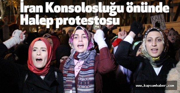 İstanbul'da Halep protestosu