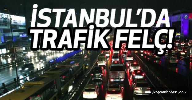 İstanbul'da Trafik Altüst Oldu