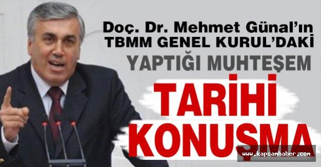 MHP'li Mehmet Günal'dan TBMM'de Tarihi Konuşma!