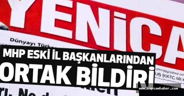"""MHP' nin Eski İl Başkanlarından """"Yeniçağ"""" açıklaması!"""