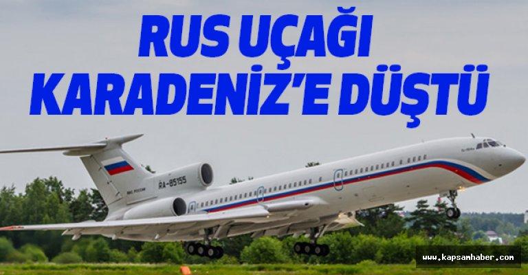 Rus Basını ve Askerleri Taşıyan Uçak Karadeniz'de Düştü