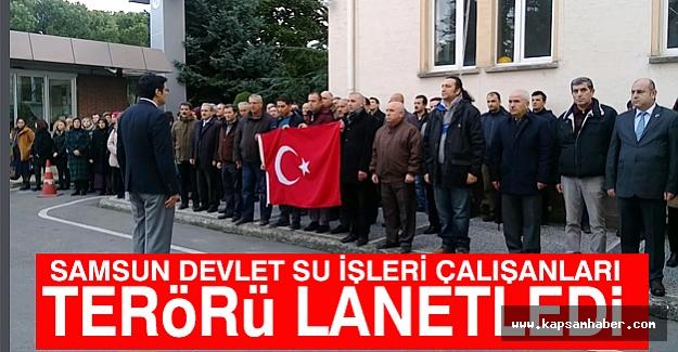 Samsun'da Çalışanlar Teröre Karşı Tek Yürek