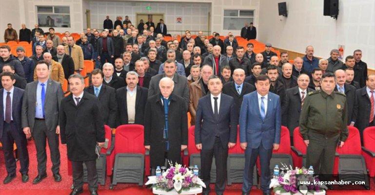 Samsun'un Havza İlçesinde  Muhtarlar Toplantısı Yapıldı