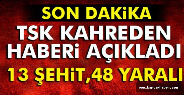 TSK'dan Kayseri'de Kahreden Patlama Açıklaması