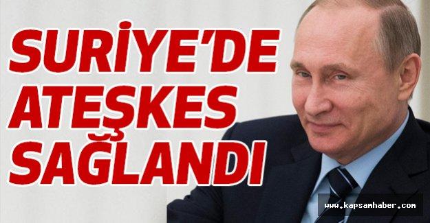 Vladimir Putin: Suriye'de ateşkes sağlandı