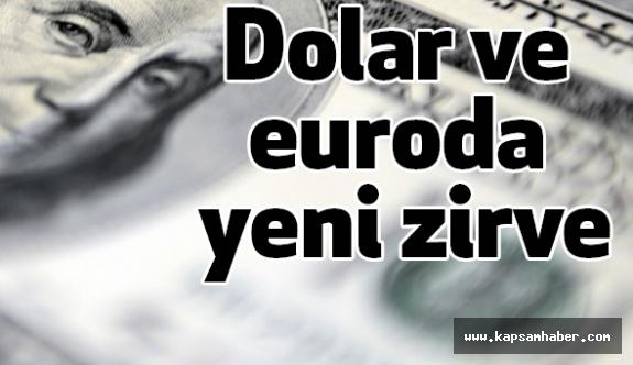 Dolar ve euro Tarihi Rekorunu Tazeledi